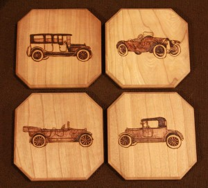 Vintage Car Coaster Set